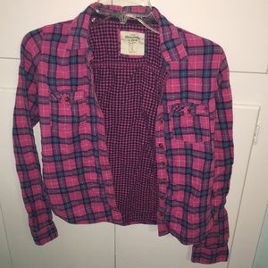 Abercrombie pink flannel